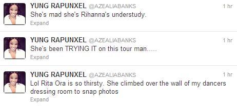azealia-banks rita ora twitter