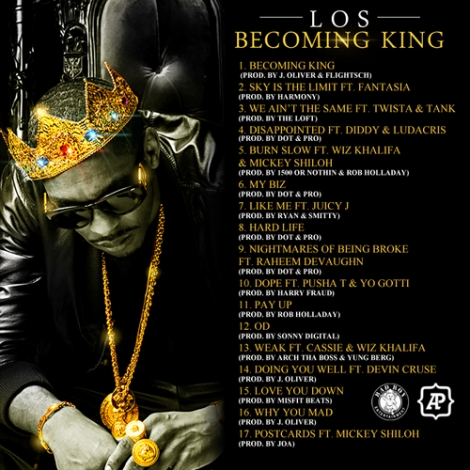 los-becoming-king-back tracklist