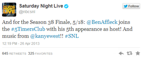 SNL Confirms Kanye West Performing Season Finale - @RDdotcom