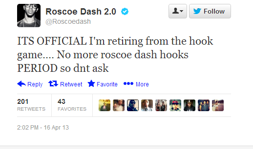 > Roscoe Dash Retires - Photo posted in The Hip-Hop Spot | Sign in and leave a comment below!
