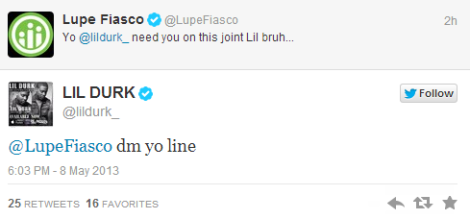 Lupe Fiasco to work with Lil Durk