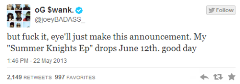 Release Date  Joey Bada   – Summer Knights EP
