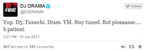DJ Drama Confirms 'Dedication 5' With Lil Wayne